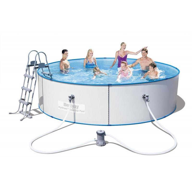 Piscina desmontable de acero 360x90 460x90 cm bestway for Piscina desmontable acero