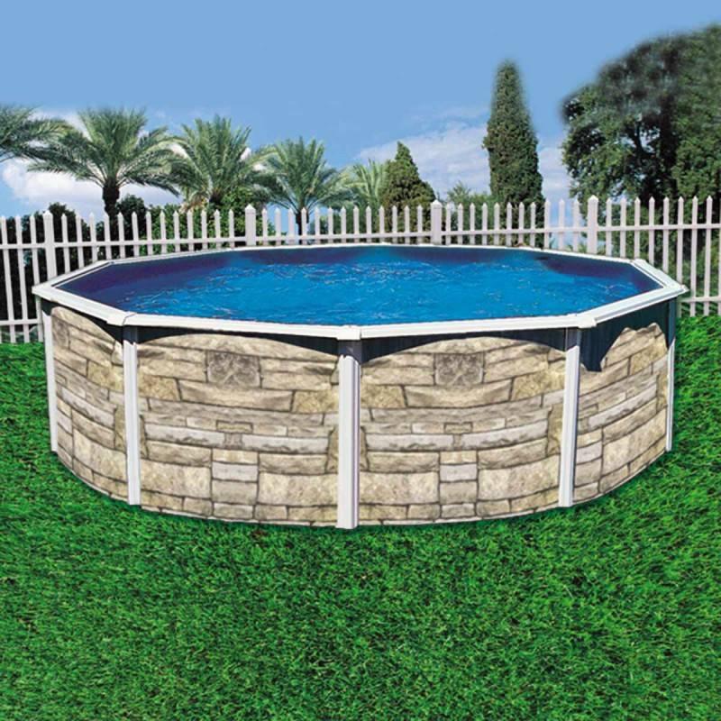 piscina bestway redonda piscina redonda desmontable acabado piedra 360x120 cm