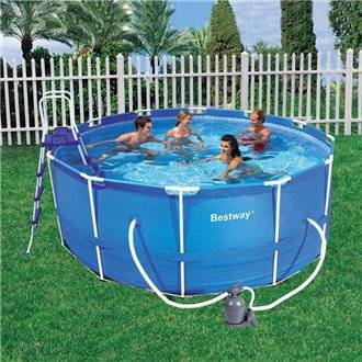 Piscina desmontable redonda 457x107 cm steel pro bestway for Se vende piscina desmontable