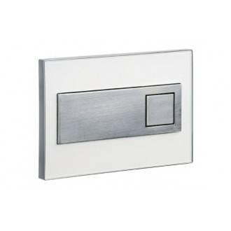 Placa en cromo vidrio blanco SQUARE