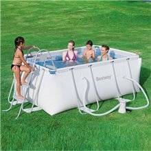 Piscina desmontable Power Steel rectangular Bestway 3662 litros