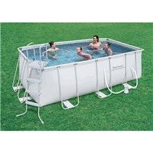Piscina desmontable rectangular 412x201x122 cm...