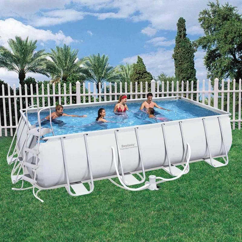piscina desmontable rectangular 549x274x122 cm power steel On piscina desmontable rectangular bestway