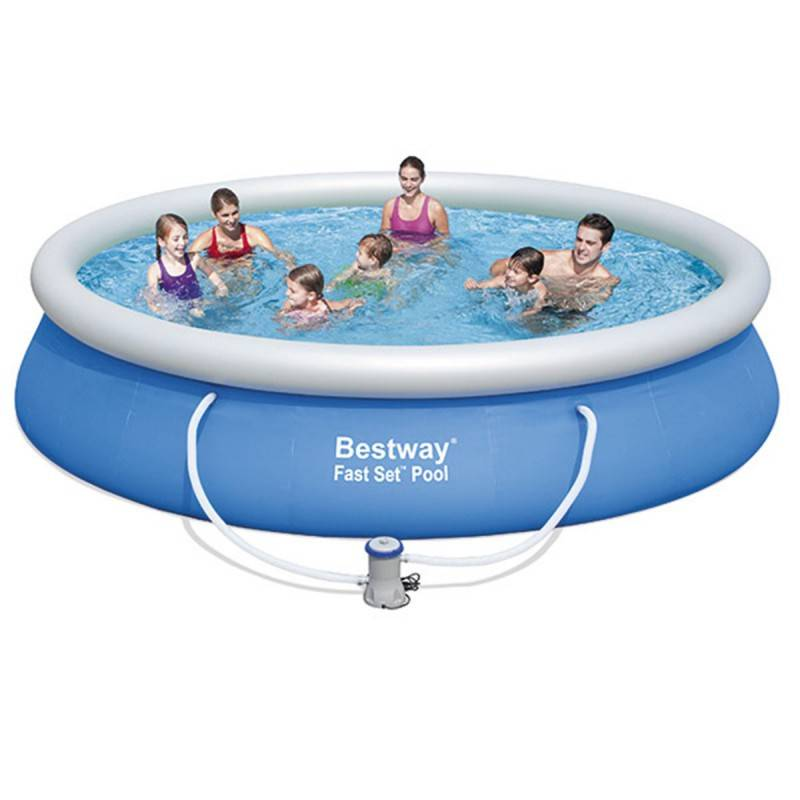 Piscina desmontable redonda 427x91 cm fast set bestway for Piscina redonda desmontable