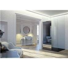 Mampara panel fijo frontal con espejo FR803 Kassandra