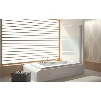 Mampara bañera panel abatible decorado TR570 Kassandra