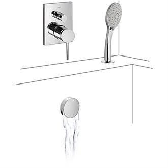 Grifo de empotrar para baño-ducha repisa MONO-TERM Tres