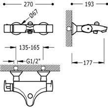 Grifo de bañera-ducha termostática BASIC Tres
