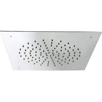 Rociador ducha empotrado a techo INOX cuadrado 20 l/m TRES