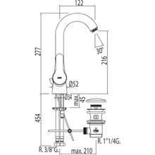 Grifo de lavabo BM-TRES 360º