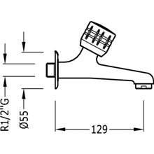 Grifo fregadero de 1 agua Ø5,5 cm ESE-23 TRES