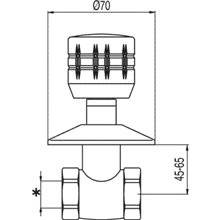 Llave de paso de 1 agua ESE-23 TRES