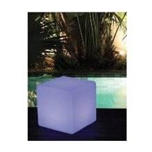 Cubo decorativo exterior con luz LED KOKIDO