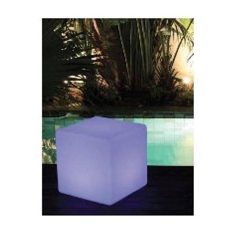 Cubo decorativo exterior con luz led kokido materiales - Luz led exterior ...