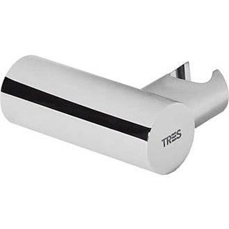 Soporte orientable redondo para ducha latón TRES