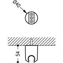 Soporte de ducha con salida para flexo TRES LOFT