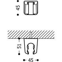 Soporte fijo para ducha 2 posiciones TRES