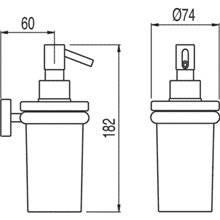 Dosificador de jabón de pared MAX-TRES