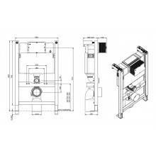Cisterna QUADRO con soporte bajo