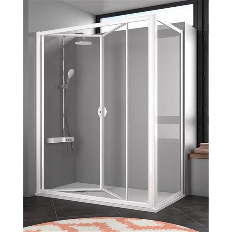 Mampara angular acr lica puerta plegable ah300 kassandra ah300 materiales de f brica - Puerta plegable bano ...