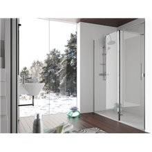 Mampara frontal fijo + puerta abatible SA503 Kassandra