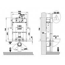Cisterna SANFLUSH con soporte
