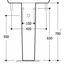 Pedestal ECCO Ideal Standard