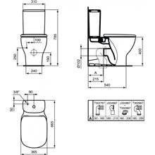 Inodoro completo compacto TESI Ideal Standard