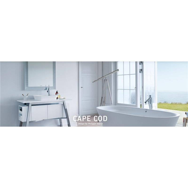 Lavabo sobre encimera capecod duravit materiales de f brica - Lavabos rectangulares sobre encimera ...