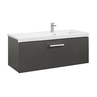 Mueble 110cm un cajón gris Prisma Roca