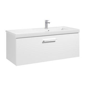 Mueble 110cm un cajón blanco Prisma Roca