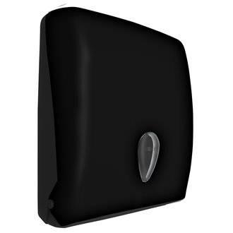 Dispensador de papel toalla de ABS negro NOFER