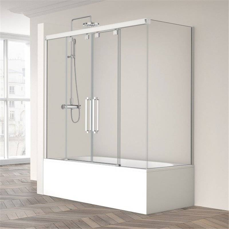 Mampara de bañera Vetro-125+190