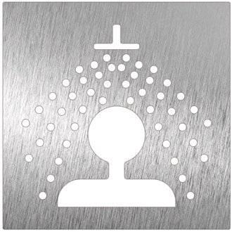 Señal color blanco ducha NOFER