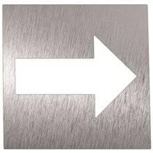 Señal color blanco flecha dirección NOFER