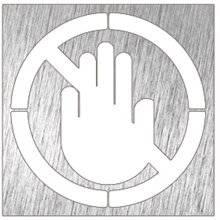 Señal color blanco prohibido el paso NOFER