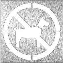 Señal color blanco prohibido animales NOFER
