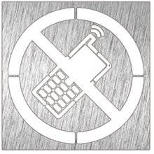 Señal color blanco prohibido móviles NOFER