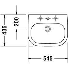Lavabo empotrado D-Code Duravit