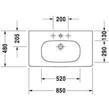Lavabo para mueble 85 D-Code Duravit