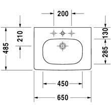 Lavabo para mueble 65 D-Code Duravit