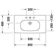 Lavabo para mueble 85 Med D-Code Duravit