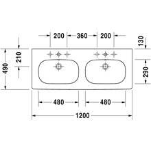 Lavabo doble para mueble D-Code Duravit