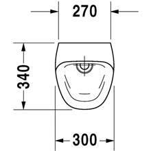 Urinario Durastyle alimentación posterior 30 DURAVIT
