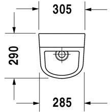 Urinario D-Code alimentación posterior DURAVIT