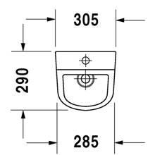 Urinario D-Code alimentación superior DURAVIT