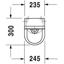 Urinario Starck 3 alimentación posterior 30 DURAVIT