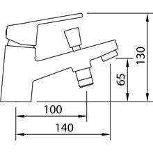 Grifo baño-ducha repisa S12 Xtreme