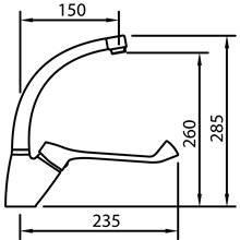 Grifo de lavabo con maneta geronológica S12 Urban