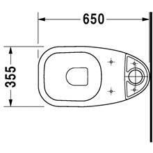 Inodoro completo tanque bajo D-Code DURAVIT